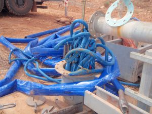 Retrieval of dropped ESP, electrical cables and Wellmaster Pump Column