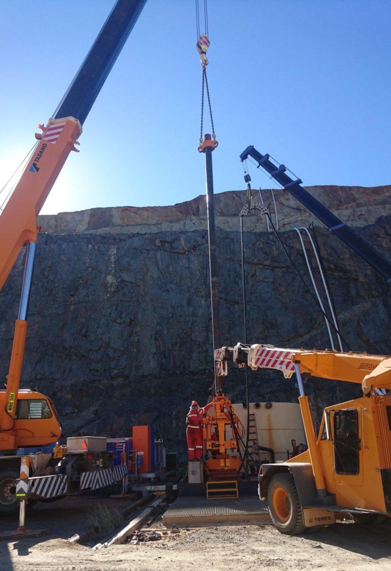 Oilfield Casing Pump Installation